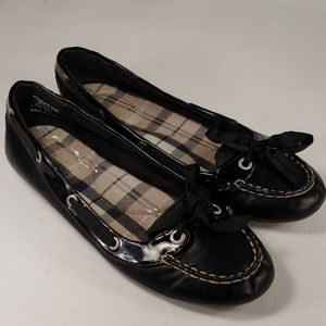 Sperry Top-Sider Womens Black Flats